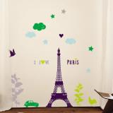 I Love Paris Kalkomania ścienna