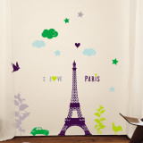 I Love Paris Wall Decal
