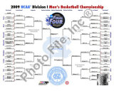 2009 NCAA Final Four Champions Bracket Photo
