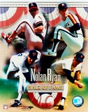 Nolan Ryan - 4 Team Career H.O.F. Composite Print