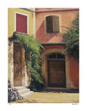 Courtyard in Abruzzia Giclee Print by Robert White
