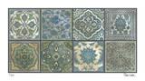Moroccan Tiles - Silver Reproduction procédé giclée par Paula Scaletta