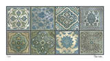 Moroccan Tiles - Silver Impression giclée par Paula Scaletta