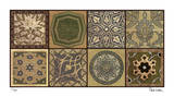 Moroccan Tiles - Gold Impression giclée par Paula Scaletta
