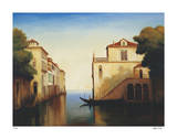 Seaside on the Amalfi Coast Giclee Print by Robert White