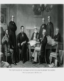President Lincoln's First Reading of the Emancipation Proclamation Poster