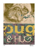 Pug &amp; Hug Limitierte Auflage von M.J. Lew