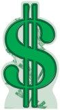 Dollar Sign Cardboard Cutouts