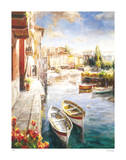 Fishing Village Giclee Print by Roberto Lombardi