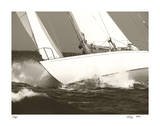Gleam Racing II Giclee Print by Cory Silken