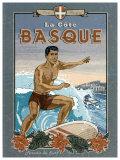 La Cote Basque de Surf Prints by Bruno Pozzo
