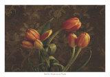 Fleur de Lis Tulips Posters by Janel Pahl
