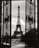 Eiffel Tower through the Gates Prints
