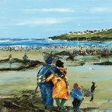Peche a Pied En Famille Art by Christian Sanseau
