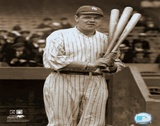 Babe Ruth - with 3 bats - ©Photofile Posters