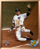 Jeter sliding into home -Game 2 of the 2004 ALDS ©Photofile Print