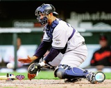 Jorge Posada 2009 Fielding Action Photo