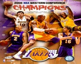 2007-08 LA Lakers Western Conference NBA Champions Poster