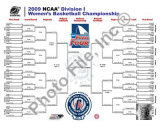 2009 NCAA Women's Final 4 Championship Bracket Photo
