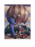 High Flyer Posters by Peregrine Heathcote