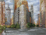 Golden High Rise Print by  Kemp