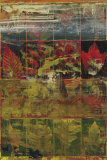 Leaves in a Row I Poster von John Douglas