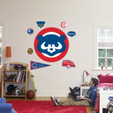 Retro Chicago Cubs Logo Wall Decal