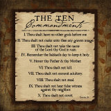 The Ten Commandments Posters af Jennifer Pugh