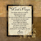 The Lord's Prayer Julisteet tekijänä Jennifer Pugh