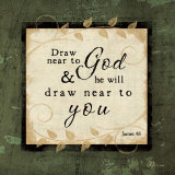 Draw Near to God Plakater af Jennifer Pugh