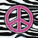 Zebra Peace Plakater av Louise Carey