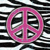Zebra Peace Poster van Louise Carey