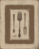 Forks Print by Jo Moulton