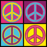 Peace in All Colors Poster von Louise Carey