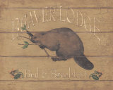 Beaver Lodge Poster par Stephanie Marrott