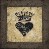 Heart Crown Poster von Stephanie Marrott