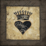 Heart Crown Poster by Stephanie Marrott