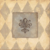 Fleur De Lis III Print by Stephanie Marrott
