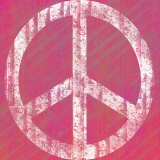 Pink Peace Poster by Louise Carey