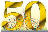 Number 50 Silhouette en carton