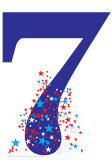 Number 7 Birthday Party Lifesize Standup Cardboard Cutouts