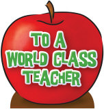 Teacher's Appreciation Apple Stand Up