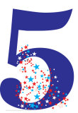 Number 5 Birthday Party Lifesize Standup Cardboard Cutouts