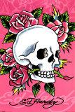 Ed Hardy - Ed Hardy - Pink Skull & Roses Plakát