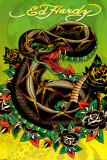 Ed Hardy - Snake Posters by Ed Hardy