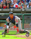 Victor Martinez - 2009 Fielding Action Photo