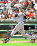 Victor Martinez 2009 Batting Action Photo
