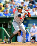 Victor Martinez- 2009 Batting Action Photo