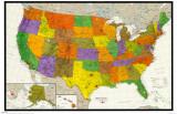 U.S. Map Plakat