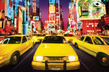 Times Square - Yellow Cabs Prints
